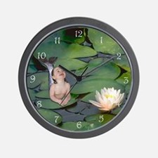 Garden Baby Mermaid Wall Clock
