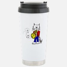 French Horn Cat Travel Mug