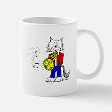 French Horn Cat Mug