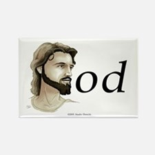 """""""Jesus is God"""" Rectangle Magnet"""