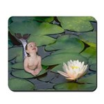 Garden Baby Mermaid Mousepad