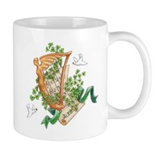 Harp, Shamrocks & Dove Mug