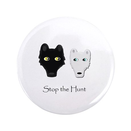 """Stop the Hunt 3.5"""" Button (100 pack)"""