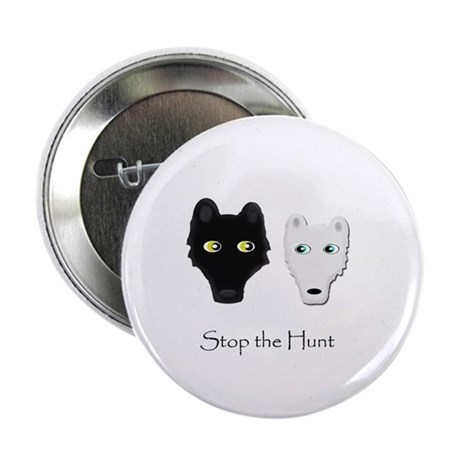 """Stop the Hunt 2.25"""" Button (10 pack)"""