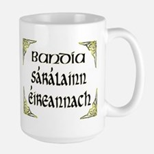 'Gorgeous Irish Goddess' Large Mug