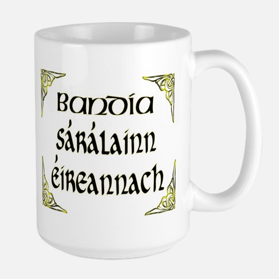 'Gorgeous Irish Goddess' Large Mug