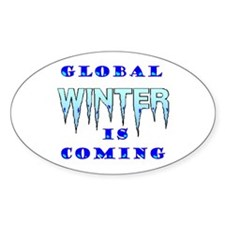 THE WORLD IS FREEZING! - Oval Sticker (10 pk)