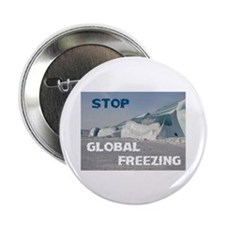 """THE WORLD IS FREEZING! - 2.25"""" Button (10 pac"""