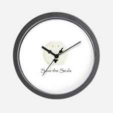 Save the Seals Wall Clock