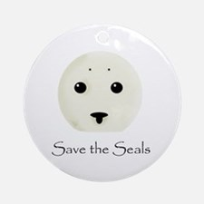 Save the Seals Ornament (Round)