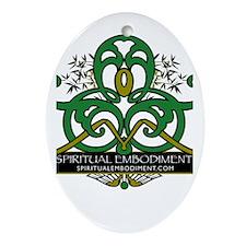 Spiritual Embodiment Oval Ornament