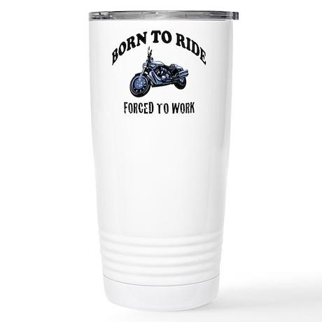 BORN TO RIDE Stainless Steel Travel Mug