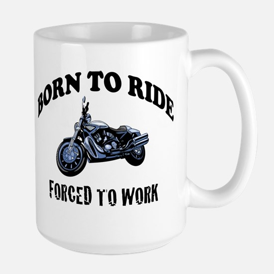 BORN TO RIDE Large Mug