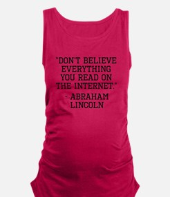 Abraham Lincoln Internet Quote Tank Top