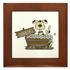 Dog Bath Framed Tile