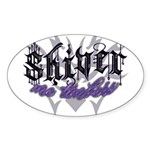 Shiver Me Timbers Oval Sticker