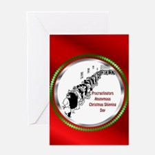 Belated Merry Christmas Greeting Card