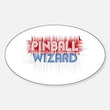 Pinball Wizard Oval Decal