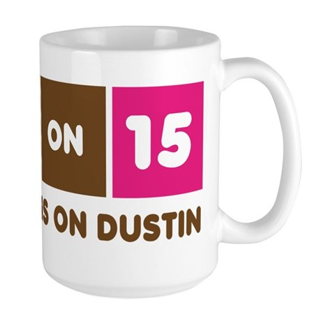 America Runs On Dustin Large Mug
