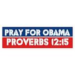 Prayer For Obama Bumper Sticker (10 pk)