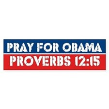 Prayer For Obama Bumper Bumper Bumper Sticker
