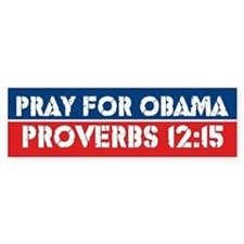 Prayer For Obama Bumper Bumper Sticker