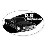 73-87 Logo Oval Sticker