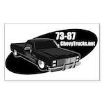 73-87 Logo Rectangle Sticker