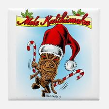 Dancing Christmas Tiki Tile Coaster