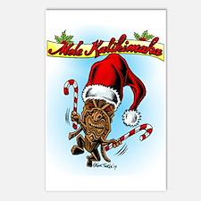 Dancing Christmas Tiki Postcards (Package of 8)