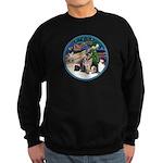 XmasMagic-GShep-2 Cats Sweatshirt (dark)
