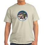 XmasMagic-GShep-2 Cats Light T-Shirt