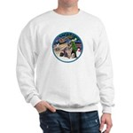 XmasMagic-GShep-2 Cats Sweatshirt