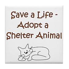 Cat Adoption Tile Coaster