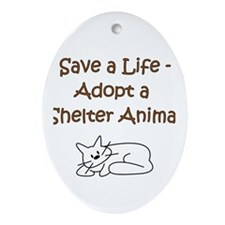 Cat Adoption Oval Ornament