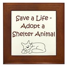 Cat Adoption Framed Tile
