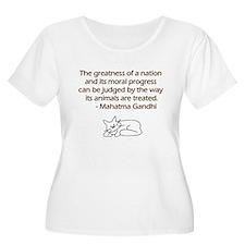 Gandhi Cat Quote T-Shirt