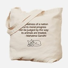 Gandhi Cat Quote Tote Bag