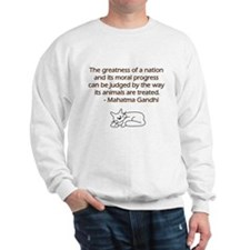 Gandhi Cat Quote Sweatshirt