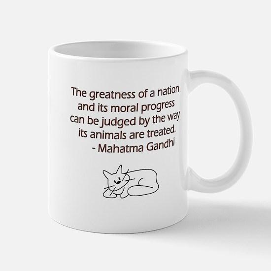 Gandhi Cat Quote Mug