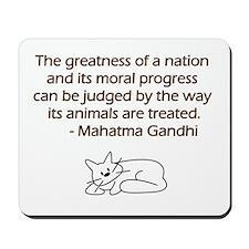 Gandhi Cat Quote Mousepad