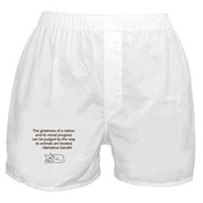 Gandhi Cat Quote Boxer Shorts