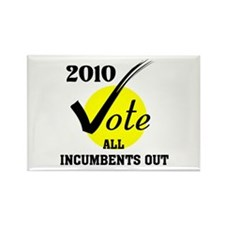 VOTE INCUMBENTS OUT ! - Rectangle Magnet (10 pack)