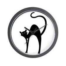 Retro Black Cat Wall Clock
