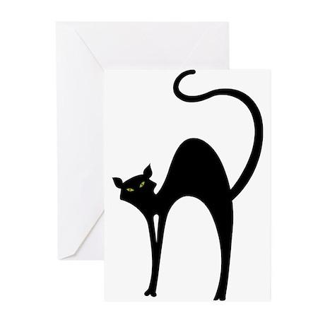 Retro Black Cat Greeting Cards (Pk of 10)