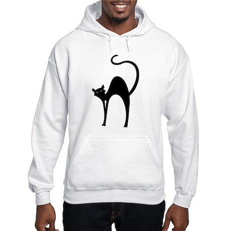 Retro Black Cat Hooded Sweatshirt