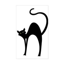 Retro Black Cat Rectangle Decal