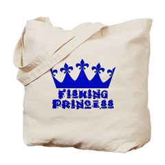 Fishing Princess - Blue Tote Bag