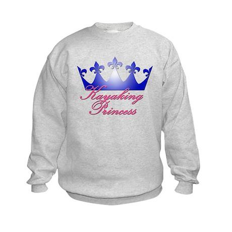 Kayaking Princess - Blue/Pink Kids Sweatshirt