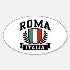 Roma Italia Oval Decal